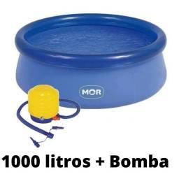 Combo piscina + bomba + kit reparo
