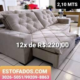 Sofá Top de Linha a Pronta Entrega!! >> (12X de R$:220,00)