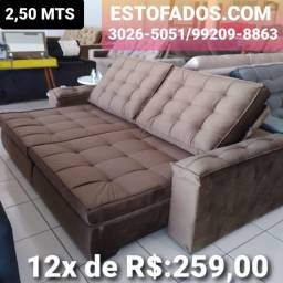 Sofá Porto Bello Top por apenas >> (12X de R$:259,00)
