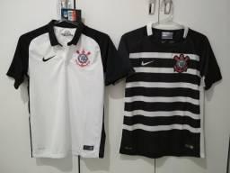 Camisa Corinthians Nike Feminina Infantil Tam. P Original 6abf6a0810b9a