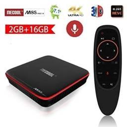 Tv Box Mecool M8s Pro W Com Controle De Voz Netflix Em Hd