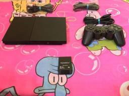 PlayStation 2 slim completo e já desbloqueado