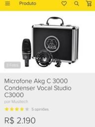 Microfone profissional AKG C3000 zerado na Caixa