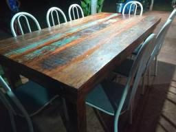 Mesa de jantar retangular Rústica