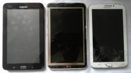 3 Tablets Samsung! Leia a descricao!