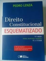 Livro de Direito Constitucional Esquematizado, 13º edição. Semi-novo.Itajai