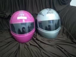 2 capacetes n 60 seminovo 85.00 os dois a539beedc55