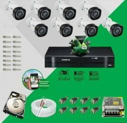 Kit de câmeras Intelbrás já com HD .2.500