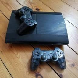 Vendo ou troco por Notebook PS3 super slim com 2 controles e 13 jogos