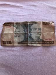Nota mil Cruzeiros banco central do Brasil