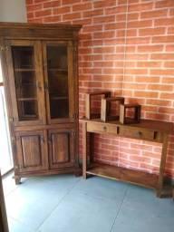 Kit cristaleira 2 portas inferior+2 portas inferior fechada+aparador e nichos grátis