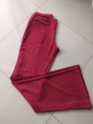 Calça tecido Flare nova Tam M (Detraje)