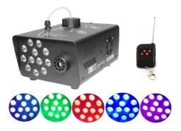 Maquina de Jato de Fumaça 1L de Capacidade 12 Leds RGB 1200W