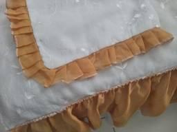 Colcha e fronha cama de solteiro