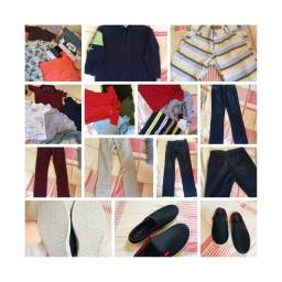 Lote de roupas e calçados Menino