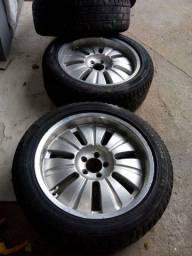 Rodas e pneus meia vida aro 20 ranger