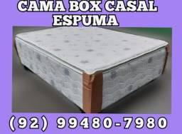 Linda Cama Box Casal de Espulma Promoção