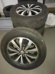 Jogo de Rodas Amarok (com pneus bons) , 255/60 R18
