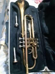 trompete com case de luxo