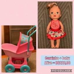 Baby Alive Meu Lanchinho + carrinho