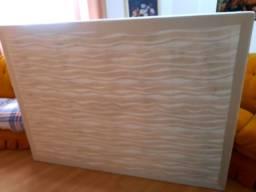 Base box casal tradicional de madeira  tecido suede