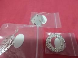3 brincos de prata