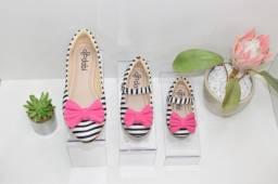 Sapatos coordenados mãe e filha
