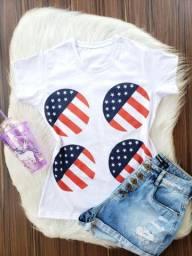 $13,50 Atacado de T-shirt blusas em algodão