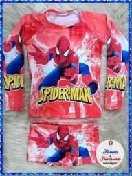 Conjunto Homem Aranha Proteção UV 50+ (4-5 anos)