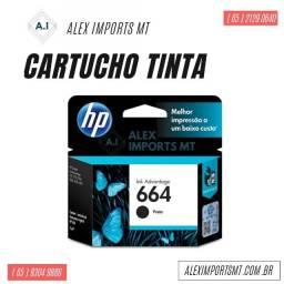 Cartucho de Tinta HP 664 Preto Original - F6V29Ab