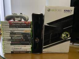 Xbox 360 + 15 jogos originais + Kinect + 1 controle