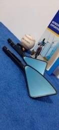 Retrovisores Rizoma Tomok Esportivo Moto Alumínio Triangular ou Pentagonal