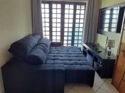 Sofá retratil reclinável  suede preto