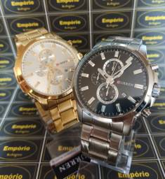 Relógio Curren Dourado ou Prata - Entrega Grátis