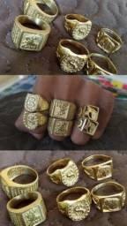 Dedeiras / anéis de moeda antiga