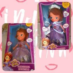 Por 130  - Boneca Princesa Sofia Canta