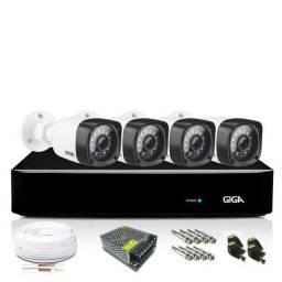 Kit completo 4 câmeras já instaladas