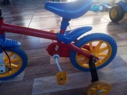 Bicicleta infantil aro 12 Azul/Vermelho
