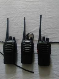 Kit 3 Rádios Comunicadores 12Km  16 canais parcelo no cartão pelo olxpay