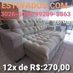 Sofá Soft Dream top de linha! >> (12X de R$:270,00)
