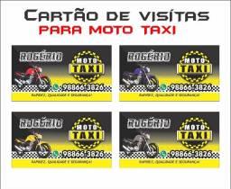 Cartão de visitas p moto taxistas
