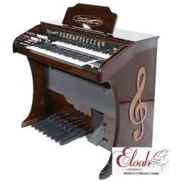 Título do anúncio: Órgão com metrônomo cor marrom alto brilho AC-300 Digital Acordes
