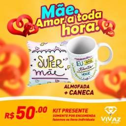 Presentinho para Mamãe - Kit Almofada + Caneca