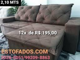 Sofá Lisboa com espuma D33 apenas (12X de R$:195,00)