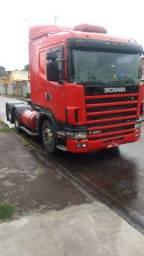 Scania R380 ano:06/06,vermelho,trucado 6x2,revisado,ótimo estado.