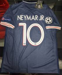 Camisa PSG 2020/2021 Patch CHAMPIONS LEAGUE - NEYMAR 10