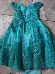 Vestido luxo verde