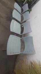 Cadeira  de consultório com 4 lugares