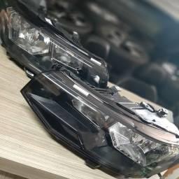 Faróis Vw Tcross 2021 Liso sem detalhes de uso