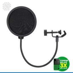 Título do anúncio: Pop Filter Para Microfone Tela Filtro Anti-Sopro Profissional